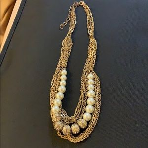 Pearl and Gold 8 inch Choker